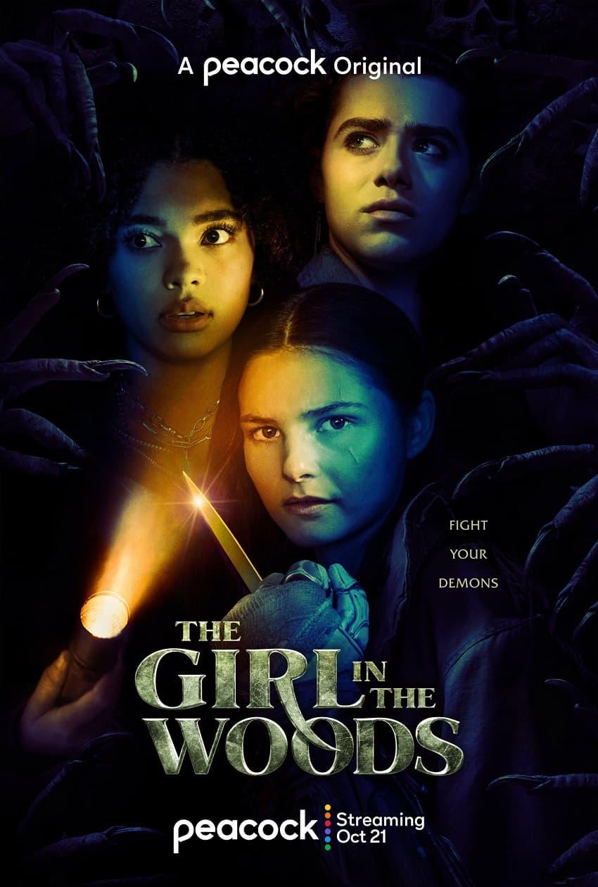 Peacock показал трейлер хоррор-сериала The Girl in the Woods - Постер