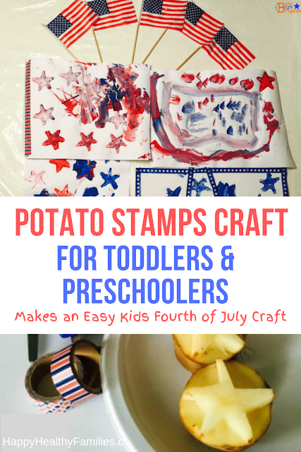 potato stamps craft for toddlers and preschoolers