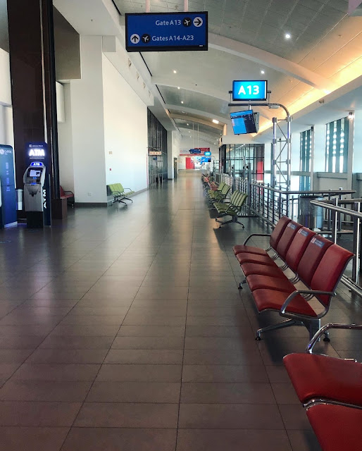 King Shaka Airport in Durban empty during COVID19 lockdown