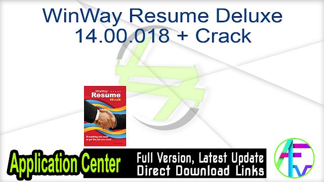 WinWay Resume Deluxe 14.00.018 + Crack
