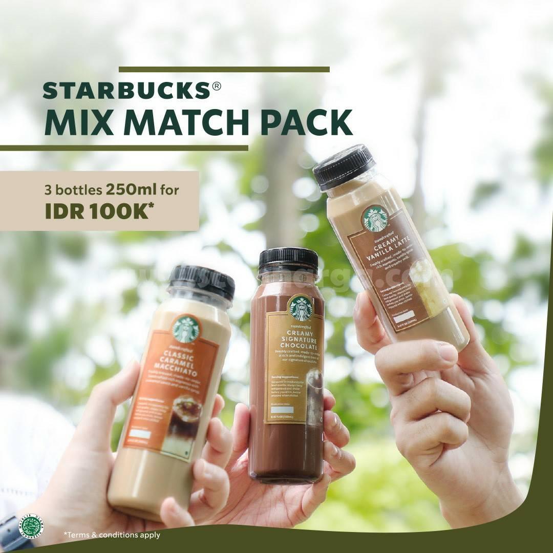 Paket Starbucks Mix Match Pack – HARGA 3 Botol Minuman cuma Rp 100.000
