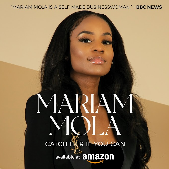 Pastor and Enterpreneur, Mariam Mola, recently accused of fraud in the UK has shared her remarkable story in her new book, 'Catch Her if You Can'. The book, is now available on Amazon