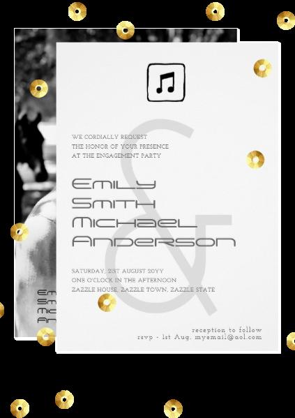 Ampersand wedding invitations, modern, photo, masculine.