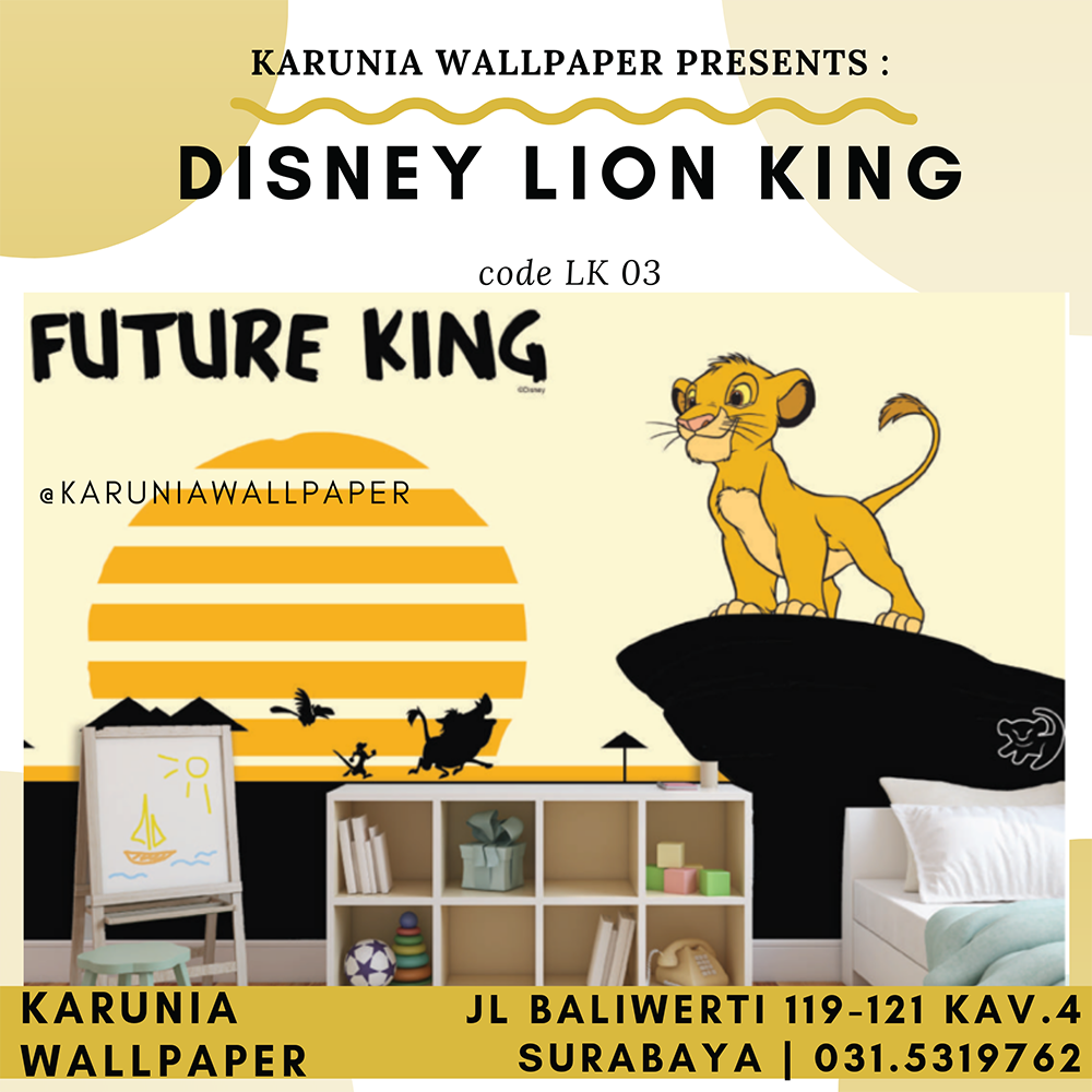 jual dinding wallpaper lion king murah