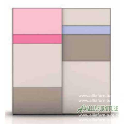 lemari minimalis modern 2 pintu sliding endorse