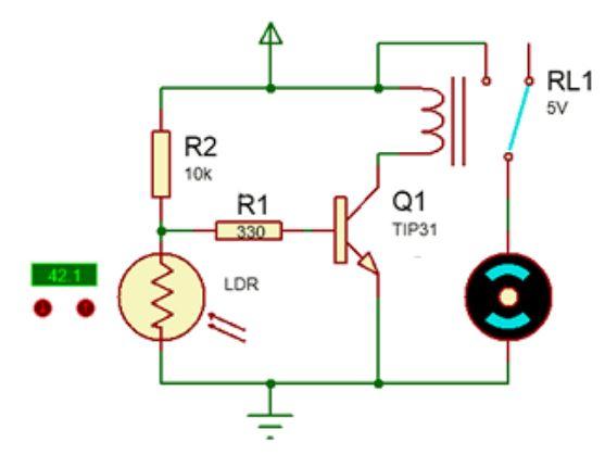 Implementasi Sensor LDR dengan kendali digital