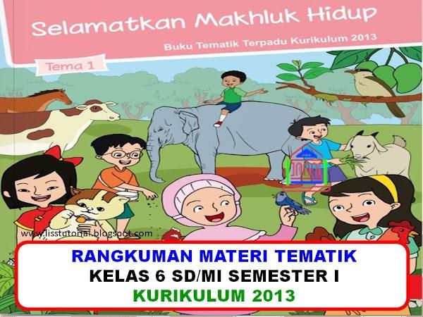Rangkuman Materi Dan Soal BDR Tematik Kelas 6 SD/MI Kurikulum 2013