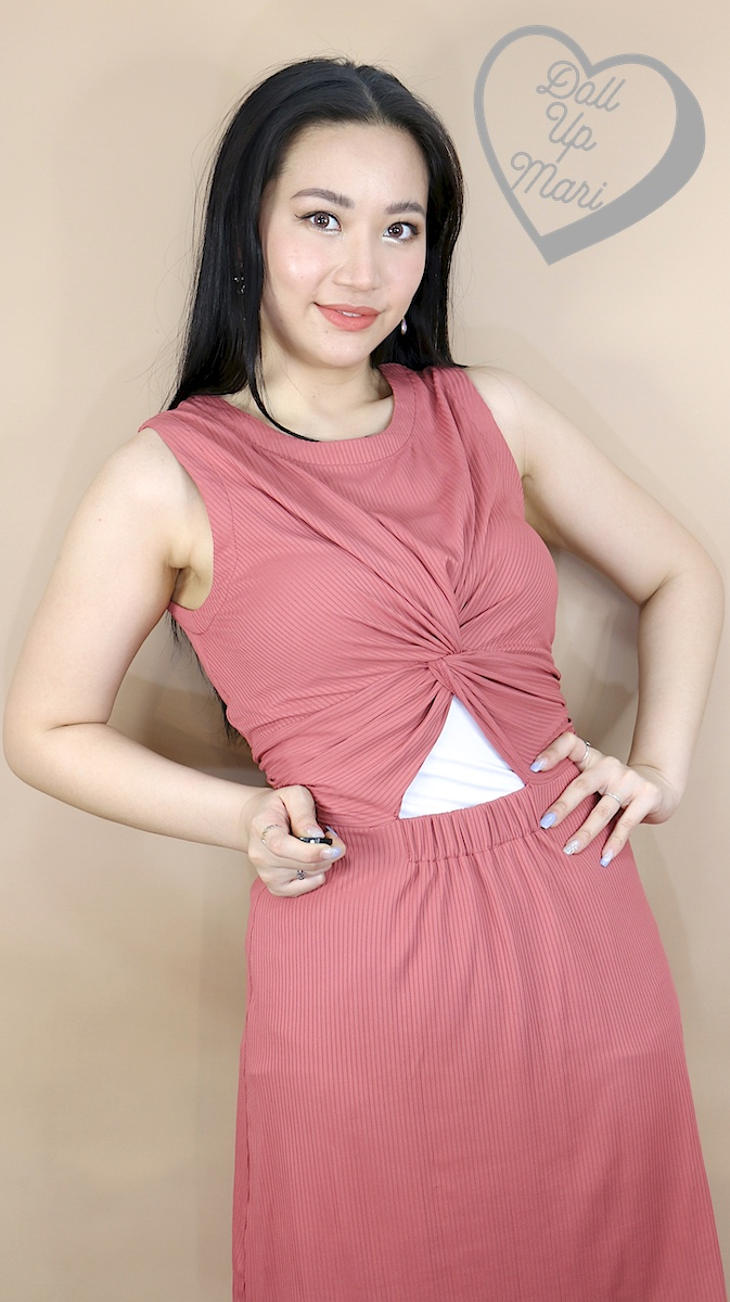 Wearing Zalora Basics Tank Dress with Twist Front