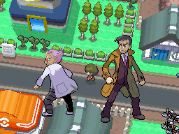 Pokémon Platinum Charon e Looker