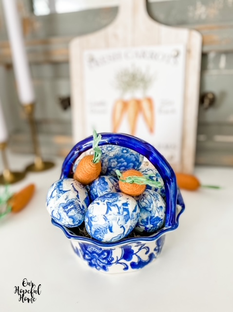 rustic carrots cutting board chinoiserie eggs