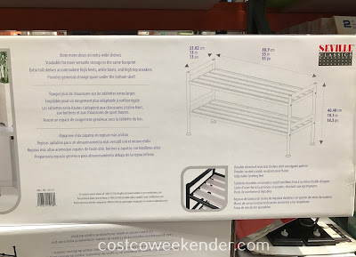 Costco 1239317 - Seville Classics Alpine Ash Shoe Rack (2 pack): can be used as separate shoe racks or stacked as shelves