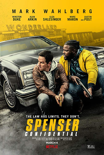 "Photo: movie poster for the Netflix original film ""Spenser Confidential"" (2020), starring Mark Wahlberg, Winston Duke, and Alan Arkin"
