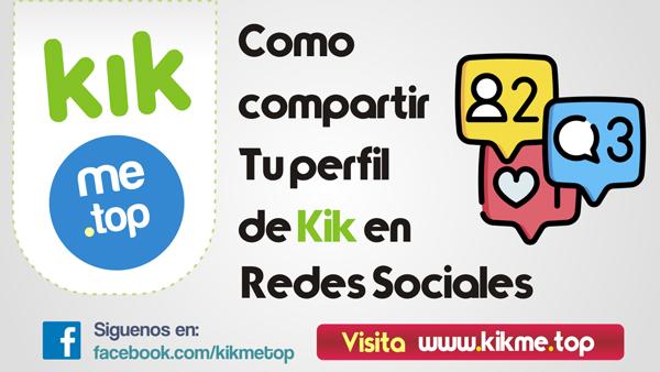 Como compartir tu perfil de Kik en redes sociales