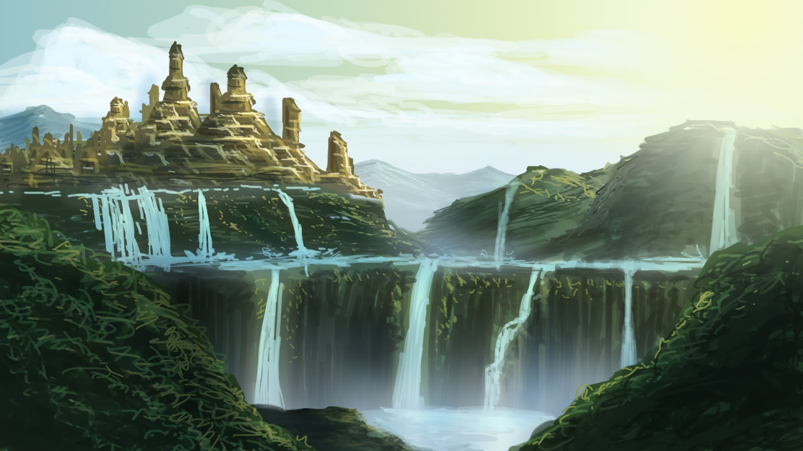 Concept for matte painting andrew suryadi this is a concept for future matte painting for my upcoming matte painting tutorial book baditri Gallery