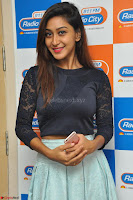 Shravya in skirt and tight top at Vana Villu Movie First Song launch at radio city 91.1 FM ~  Exclusive 37.JPG