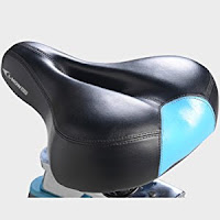 Ergonomic sprung saddle, 4-way adjustable, on L Now Pro LD577 Indoor Cycle Trainer