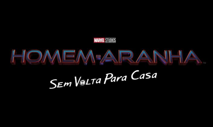 Imagem de capa: fundo preto com o título Homem-Aranha em fonte metálica azul com contornos vermelhos e abaixo o subtítulo em branco que diz Sem Volta Pra Casa.