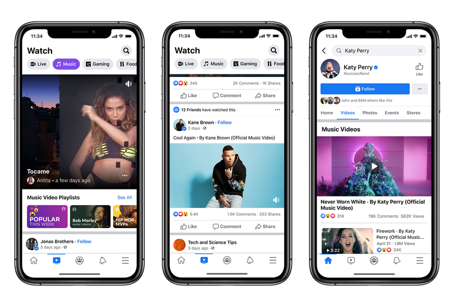 Facebook sfida YouTube e lancia video musicali ufficiali