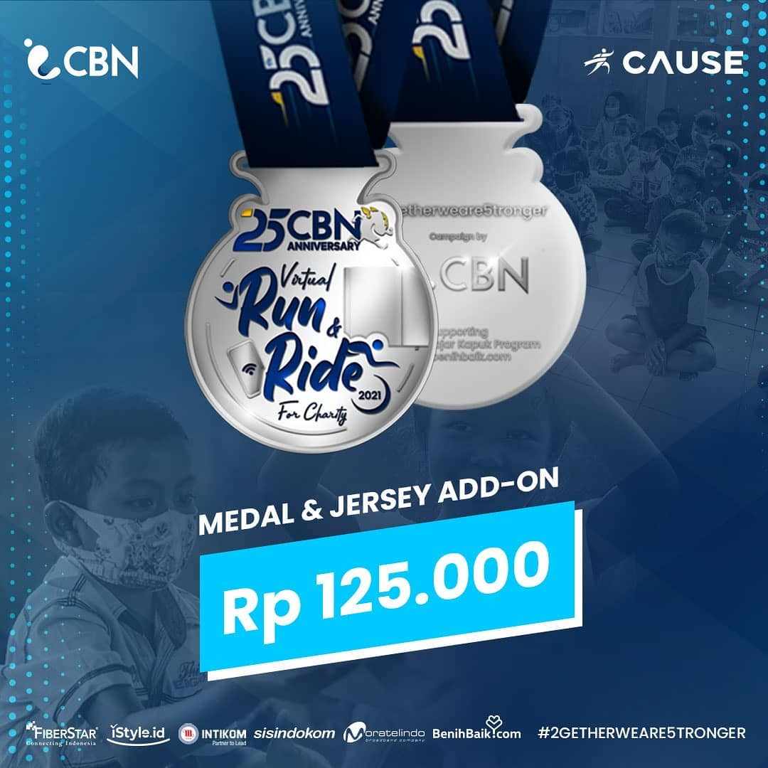 Medal 🏅 CBN Virtual Run & Ride for Charity • 2021