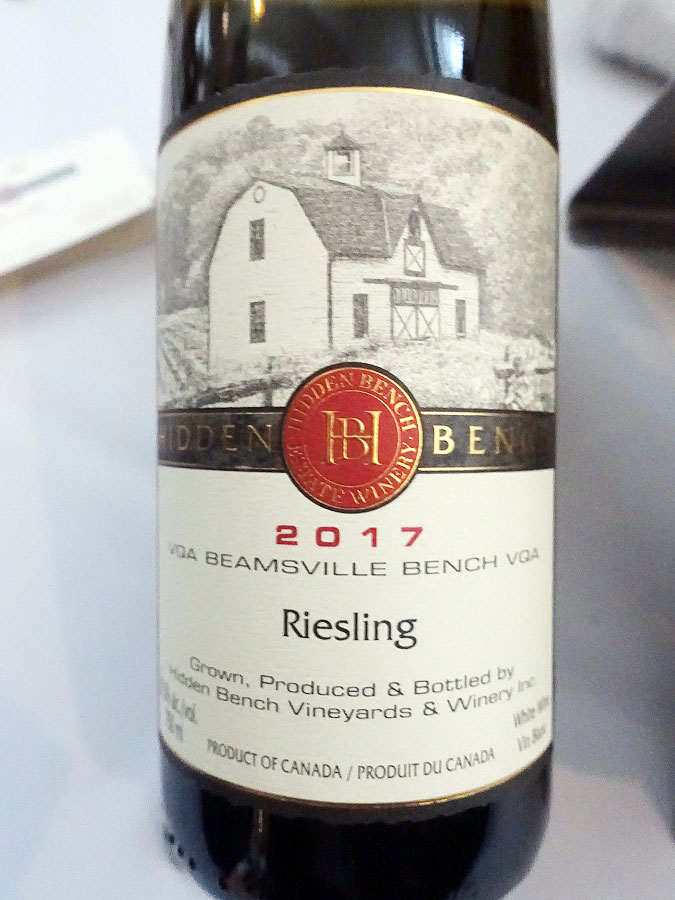 Hidden Bench Estate Riesling 2017 (91 pts)