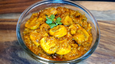Mushroom Masala Restaurant-style Mushroom Masala Asha And Anita Vegan Recipe मशरुम मसाला