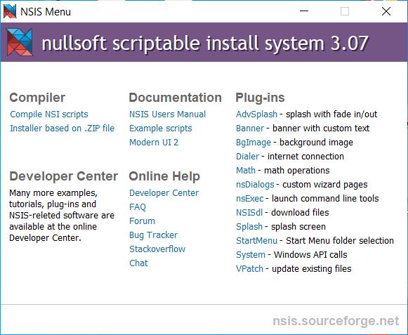 Nullsoft Scriptable Install System Main Interface Screenshot