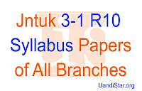 Jntuk R10 3-1 Syllabus Papers Of AE, ECE, EEE, CSE, IT, MECH, .... etc All Branches