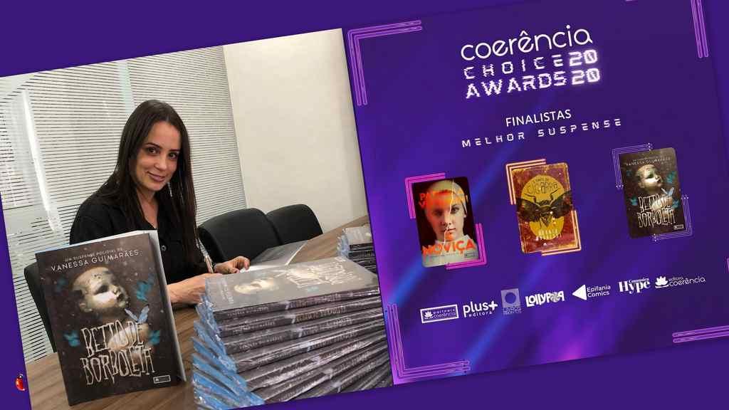 """""""Beijo de borboleta"""", livro de estreia da biomédica Vanessa Guimarães, foi lançado recentemente e se destaca no Coerência Choice Awards 2020."""