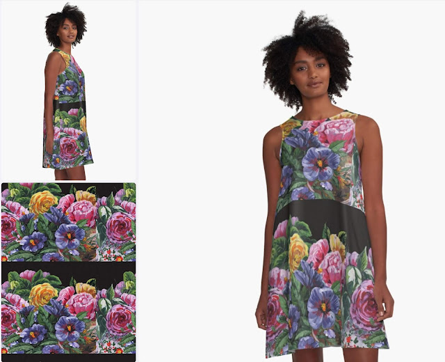 Impressionistic Flowers Summer Dress