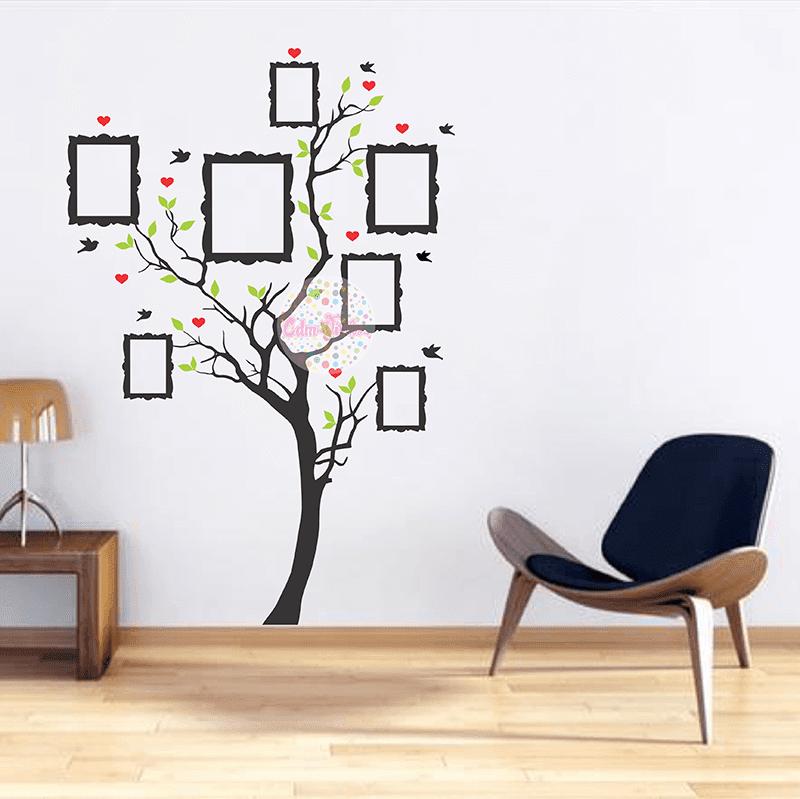 Vinilo decorativo arbol de la vida genealogico con for Arbol vinilo