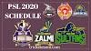 PSL 2020 Schedule | Pakistan Super League Fixtures Download