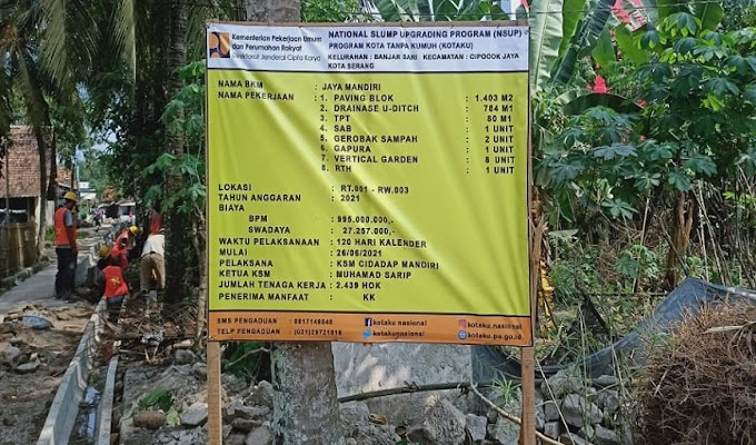 Program Kotaku di Kelurahan Banjarsari, Ketua BKM: Kami Kerjakan Sesuai Spesifikasi