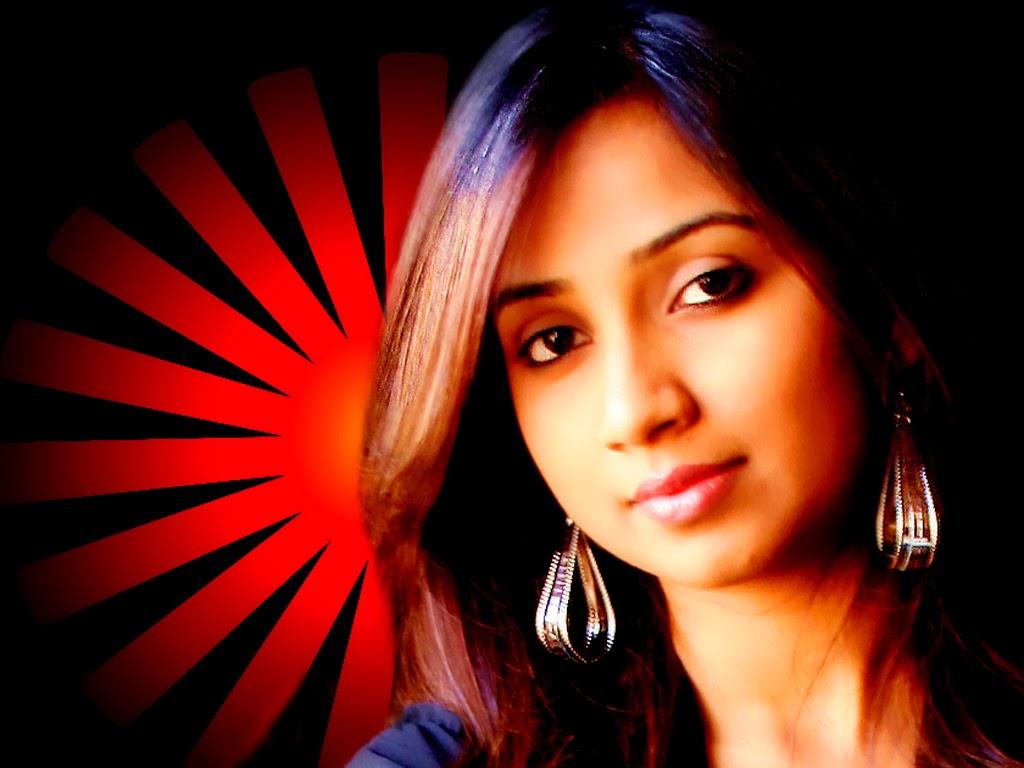 Beautiful Shreya Ghoshal HD Wallpaper