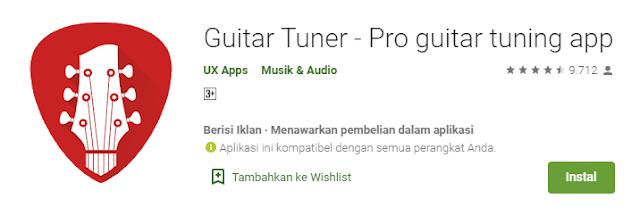 aplikasi gitar tuner
