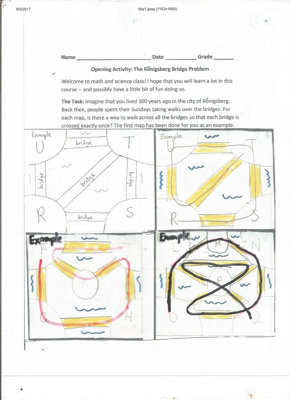Geometry Common Core Style Lesson 1 4 Points In Networks Day 14