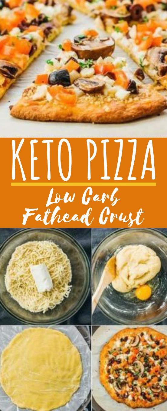 Keto Pizza Recipe (Low Carb Fathead Crust) #keto #lowcarb