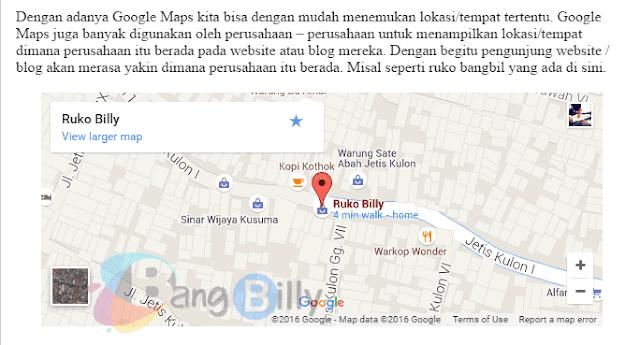 Hasil Google Maps Setelah di Edit