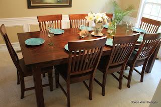 Custom Farmhouse Table, Chairs