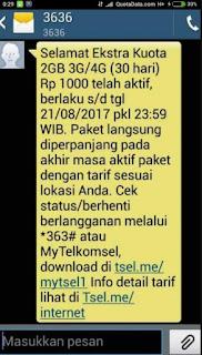 Paket Internet Telkomsel 5000 2GB Terbaru