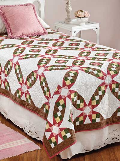 Briar Roses Bed Quilt Free Pattern