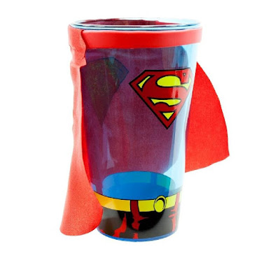 Superman Shield Glass with Cape