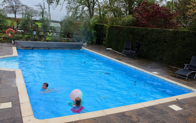 swimming at Glebe house cottages Bude