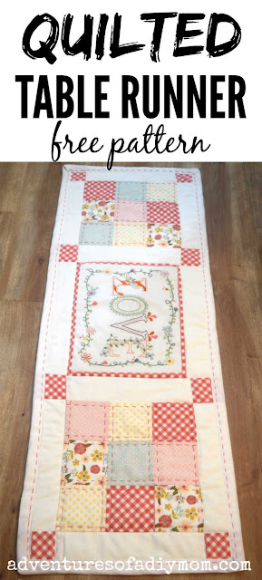image of a quilted table runner