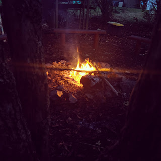 Camp Fire at the Brownies Bush Craft Night