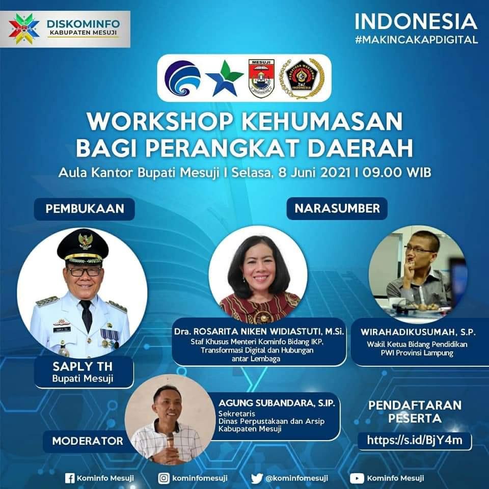 Workshop Kehumasan, Wira Harapkan Humas  Mampu Jadi Pusat Informasi Kegiatan OPD