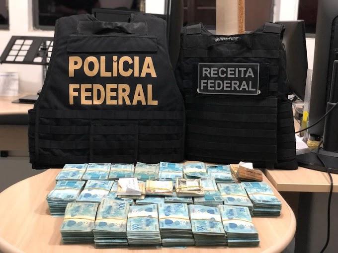 Polícia Federal e Receita Federal apreendem 435 mil reais na fronteira com o Uruguai