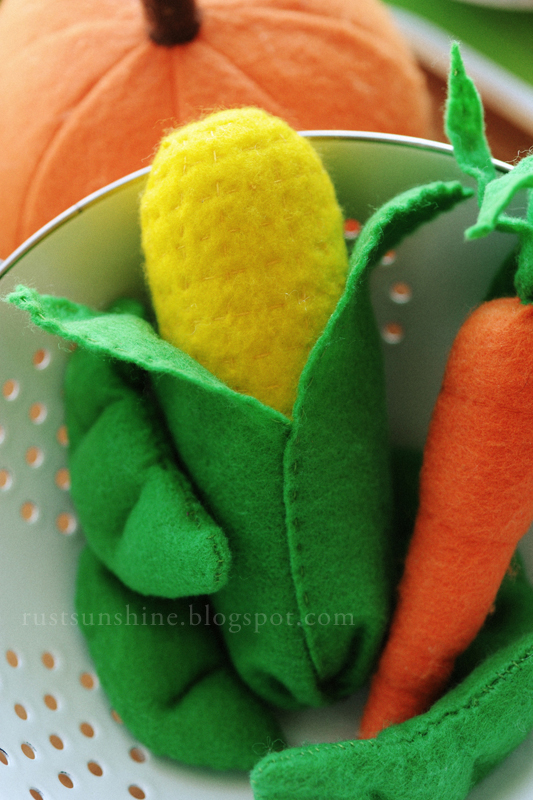 Rust & Sunshine: Felt Fruits & Vegetables