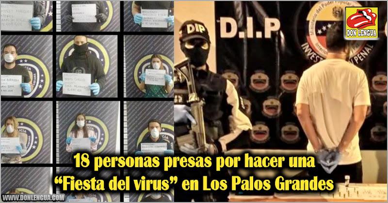 """18 personas presas por hacer una """"Fiesta del virus"""" en Los Palos Grandes"""