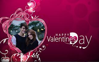 Valentine's day photo frame app