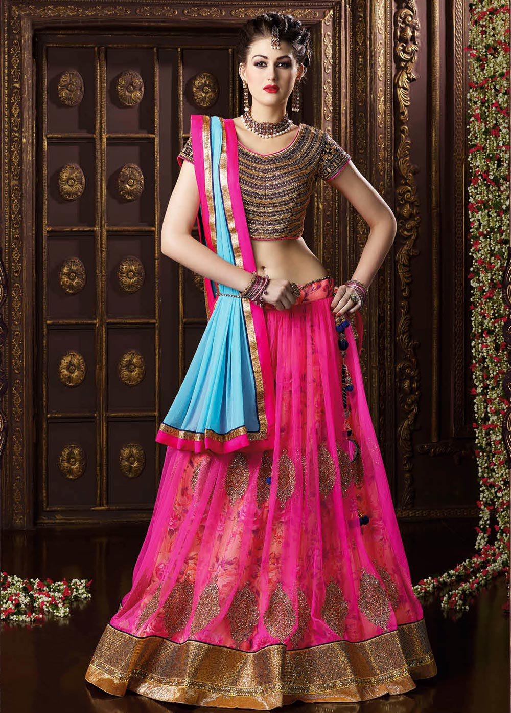 Blog top designer wedding bridal lehenga cholis for Online designs